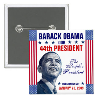 The People's President 15 Cm Square Badge