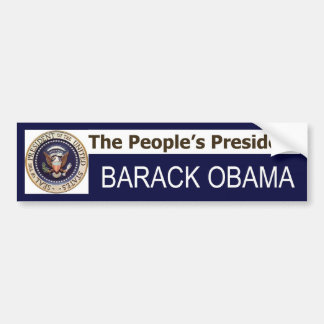 The People's President BARACK OBAMA bumper sticker