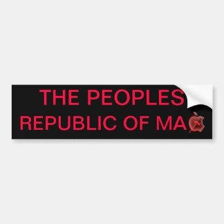 THE PEOPLES REPUBLIC OF M A C BUMPER STICKER