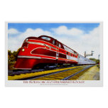 The Peoria-Chicago Streamlined Rocket Print
