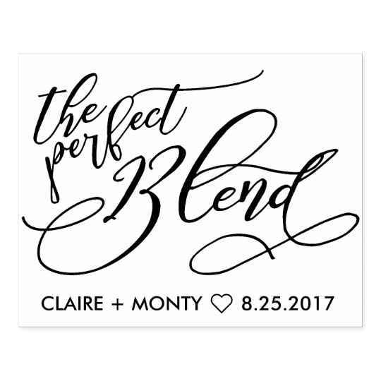 The Perfect Blend Rubber Stamp