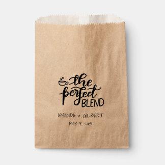 The Perfect Blend Rustic Kraft Paper Wedding Favor Favour Bags