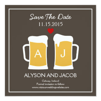 The Perfect Brew Save The Date Card 13 Cm X 13 Cm Square Invitation Card