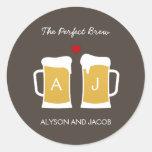 The Perfect Brew Wedding Favour Sticker/ Envelope Round Sticker
