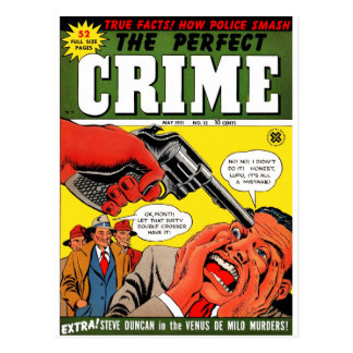 The Perfect Crime #12 Postcard