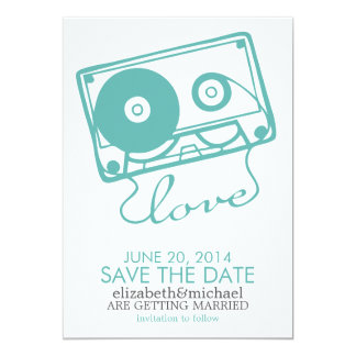The Perfect Mix Wedding Save the Date {aqua} Card