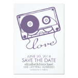 The Perfect Mix Wedding Save the Date {purple} 13 Cm X 18 Cm Invitation Card