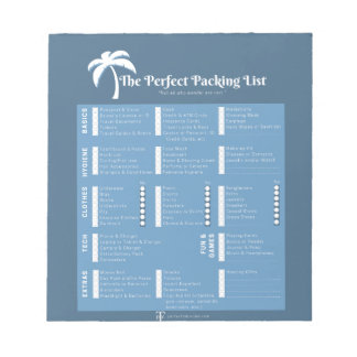 The Perfect Packing List Notepad