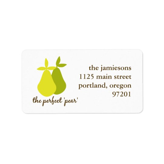 The Perfect Pear Address Label