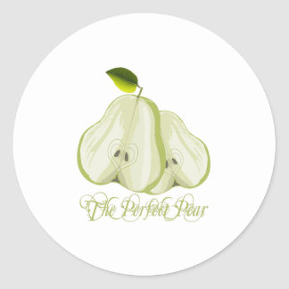 The Perfect Pear Classic Round Sticker