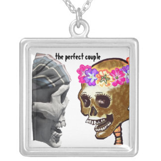 The Perfect Skulls Couple Personalized Necklace