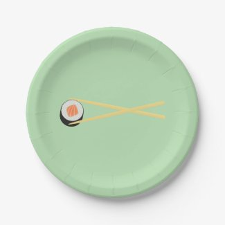 The Perfect Sushi Paper Plate