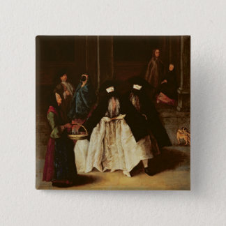 The Perfume Seller (oil on canvas) (see alo 166068 15 Cm Square Badge