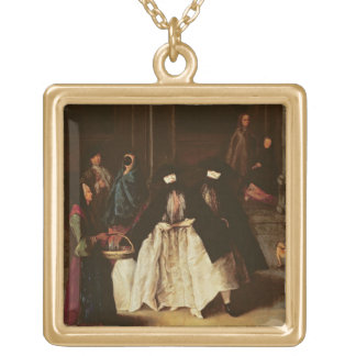 The Perfume Seller (oil on canvas) (see alo 166068 Gold Plated Necklace