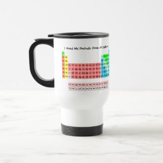 The Periodic Table (Handwritten Style) Travel Mug