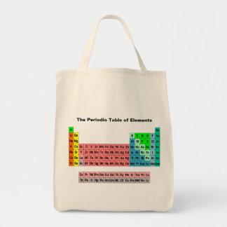 The Periodic Table (Simple Style) Tote Bags