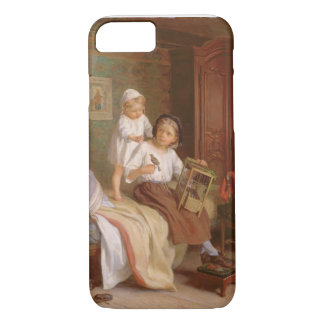 The Pet Bird (oil on canvas) iPhone 8/7 Case