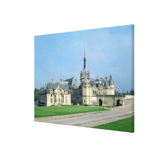 The Petit Chateau Stretched Canvas Print