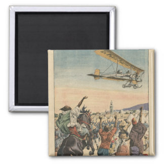 The 'Petit Journal' airplane flying over Square Magnet