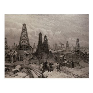 The Petroleum Oil Wells at Baku on the Caspian Postcard