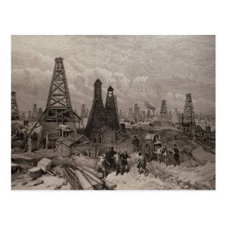 The Petroleum Oil Wells at Baku on the Caspian Postcard