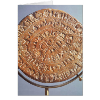 The Phaistos Disc, with unknown significance Card