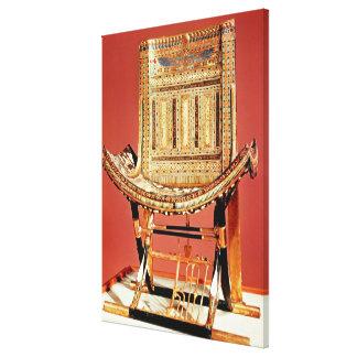 The pharaoh's ecclesiastical throne canvas print