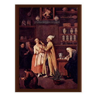 The Pharmacist By Longhi Pietro (Best Quality) Postcard