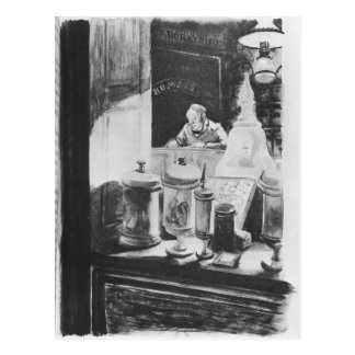 The Pharmacist Homais Postcard
