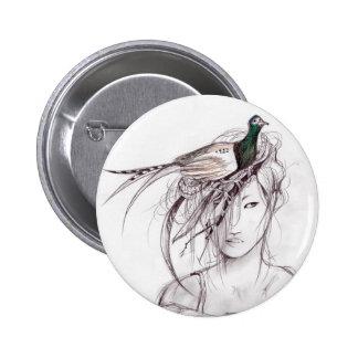 The Pheasant 6 Cm Round Badge