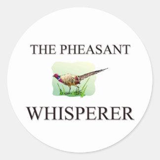 The Pheasant Whisperer Classic Round Sticker