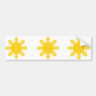 the Philippines   cropped sun, Philippines Bumper Sticker