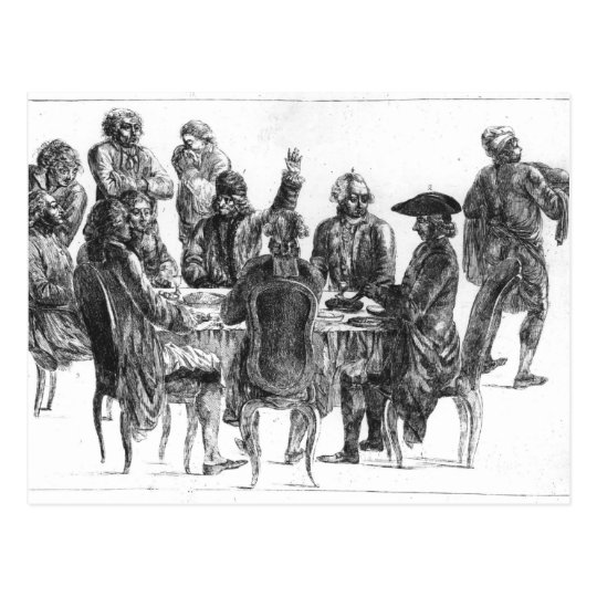 The Philosophers at Supper, c.1750 Postcard