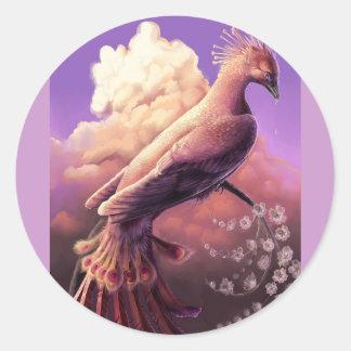 The Phoenix by Gustavo Siqueira Round Sticker