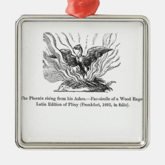 The Phoenix rising from his ashes Christmas Ornament