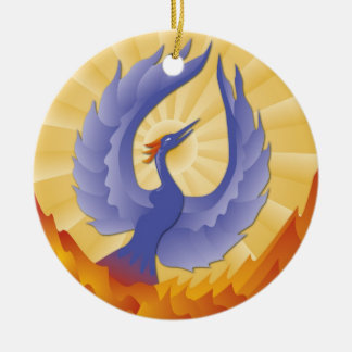 The Phoenix Rising from the Ashes Christmas Ornament