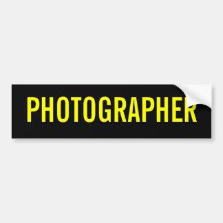 The Photographer Bumper Sticker