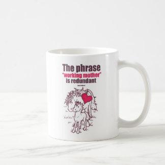 """""""The phrase """"working to mother"""" is redundant"""" Basic White Mug"""