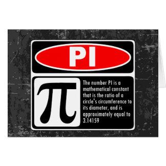 The Pi Explaination Greeting Cards