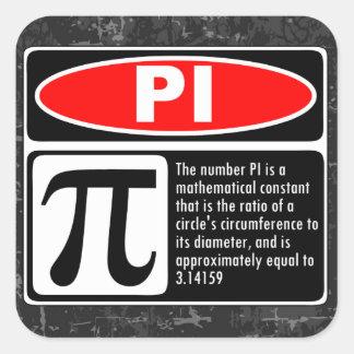 The Pi Explaination Square Sticker