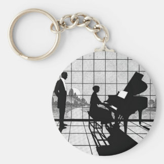 The Pianist Basic Round Button Key Ring