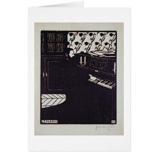The Piano, 1914 (woodcut) Card
