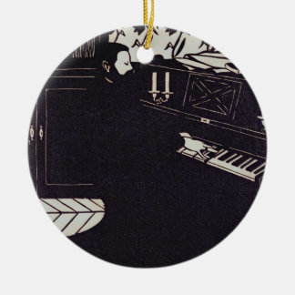 The Piano, 1914 (woodcut) Christmas Ornament