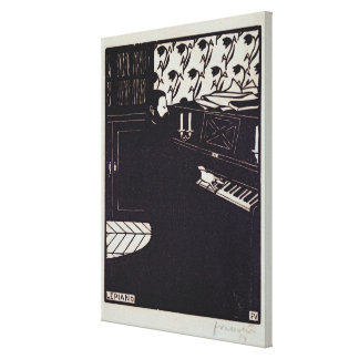 The Piano, 1914 (woodcut) Gallery Wrapped Canvas