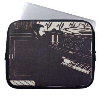 The Piano, 1914 (woodcut) Laptop Sleeves