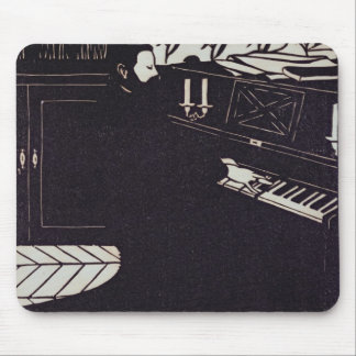 The Piano, 1914 (woodcut) Mouse Mat
