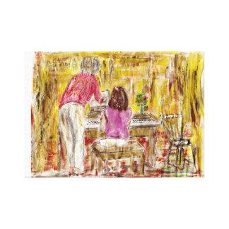 The Piano Lesson Canvas Prints