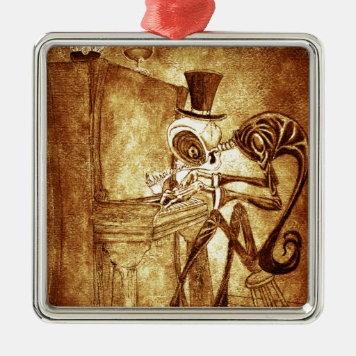 the piano player christmas tree ornament
