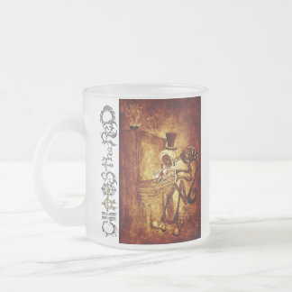 the piano player frosted glass mug