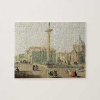 The Piazza Colonna, Rome Jigsaw Puzzle
